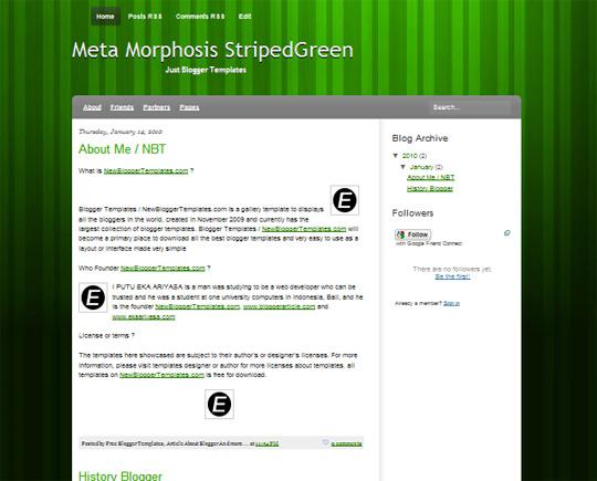 Meta Morphosis StripedGreen