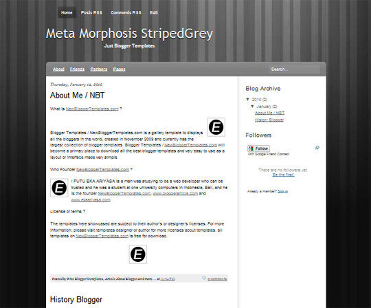 Meta Morphosis StripedGrey
