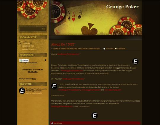Grunge Poker