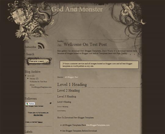 God And Monster