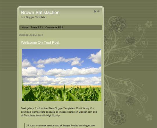Brown Satisfaction