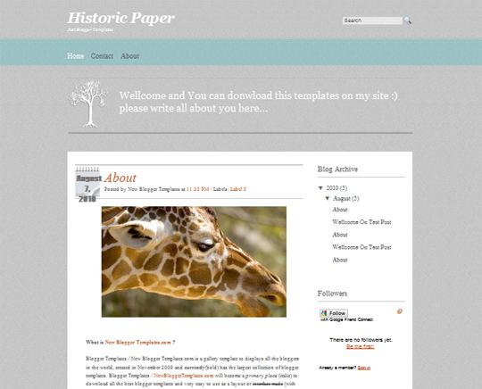 Historic Paper