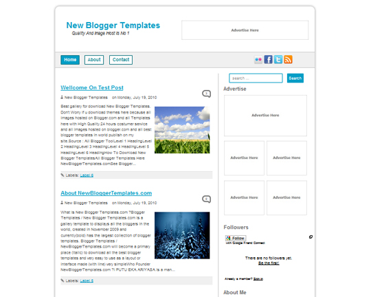 New Blogger Templates