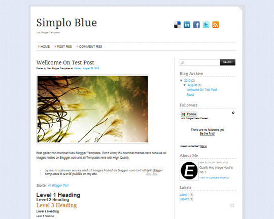 Simplo Blue