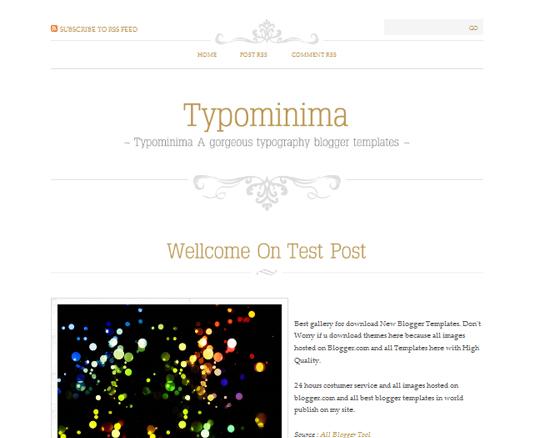 Typominima