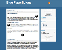 Blue Paperlicious