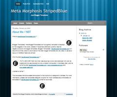Meta Morphosis StripedBlue